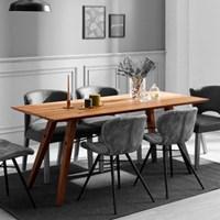 [스코나]델리아 오크 원목 6인 식탁 테이블(원목형)_(602604738)