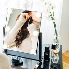 [라쏨] LED 조명 화장 거울 마이스위트데이 블랙