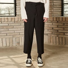 SOLID LINE WIDE SLACKS_BLACK