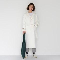 zipper detail trench coat