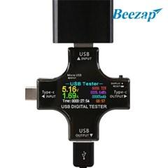 비잽 타입C & USB 전압 전류 컬러 테스터기