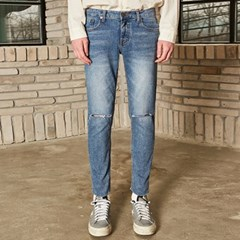 DAMAGE CROP WASHING JEAN_DENIM