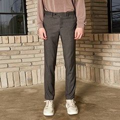 MODERN STRIPE SHED SLACKS_GRAY