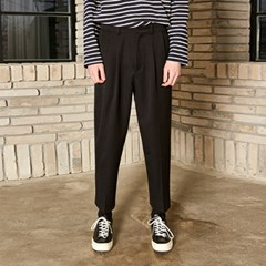 PINTUCK WIDE SLACKS_BLACK