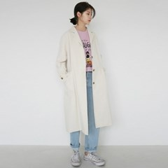 Calm single trench coat