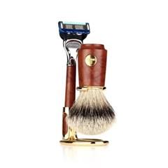 [오메가브러쉬] shaving brush SET F6144.6 (Silver Tip)
