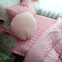 [바이아미] 루나 세미 차렵 침구 (핑크) - 퀸사이즈
