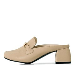 kami et muse Gold chain middle heel slippers_KM18s094