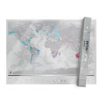 [럭키스] 영국 정품 스크래치 맵 세계지도 플래티넘_(1348679)