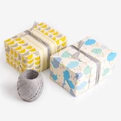 [인디고샵] 포장지 옐로우 튤립 클라우드 (10개+라피아) set