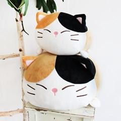 [모찌타운] 까망 고양이 쿠션겸 말랑모찌인형 M
