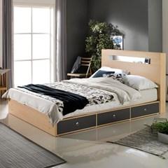 루젠 LED조명 깊은서랍 퀸 침대(매트리스포함) DF636137