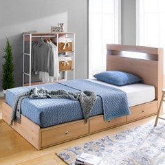 루젠 LED조명 깊은서랍 슈퍼싱글 침대(매트리스포함) DF636047