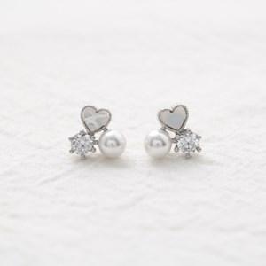 shell heart pearl