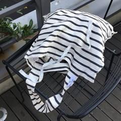 [킵캄]one shoulder bag_linen stripe