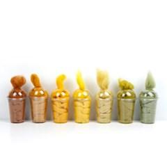 메리노양모 옐로우 컬러세트