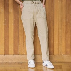 [unclockwism] UCW Banding Cotton Pants_Beige