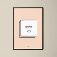 유니크 인테리어 디자인 포스터 M 메세지팝업