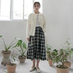 Cheerful full check skirt