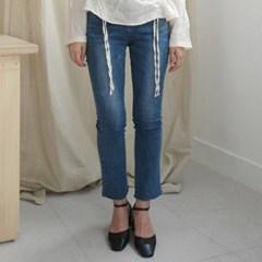 Bright straight denim pants