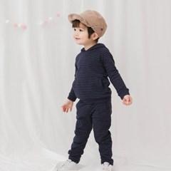 [긴팔실내복]베디후드-볼드(다크네이비)