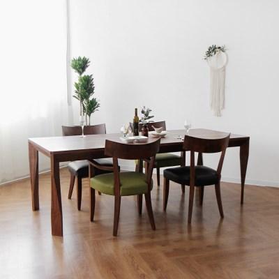 [헤리티지월넛] A6형 식탁/테이블 세트 1700