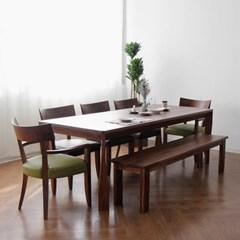 [헤리티지월넛] A4형 식탁/테이블 세트 2200