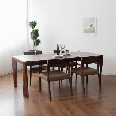 [헤리티지월넛] A3형 식탁/테이블 세트 2200