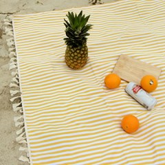 피크닉매트+에코백set - Yellow Stripe