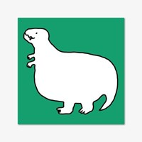바보공룡 떡메모지 - 티라노사우르스 (초록)