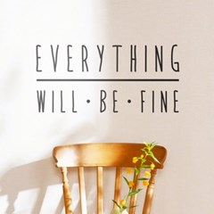 everything will be fine 레터링 스티커