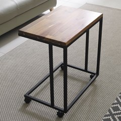 가구데코 원목 소파 사이드 테이블 이동식바퀴 GM0145