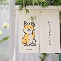 시바견 고양이 일본식 문가리개 노렌 커튼