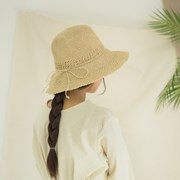 [2 colors]crochet raffia hat