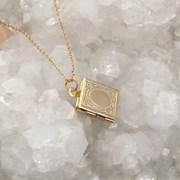 book locket necklace (2colors)