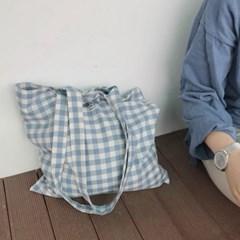 Check blue bag ( handmade )