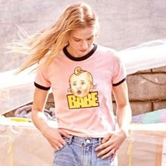UTT-ST18 베베 링거 티셔츠[pink(WOMAN)]