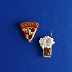 (혜화) 냠냠 맛있는 자수 마그넷&브로치