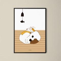 유니크 인테리어 디자인 포스터 M 낮잠고양이
