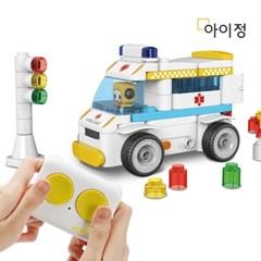 아이정 파이블럭 5종변신 코코 구급차 RC카