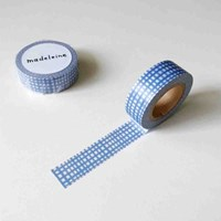 Check masking tape - Pastel blue