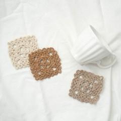 비스킷 컵받침 - 코바늘 DIY 키트