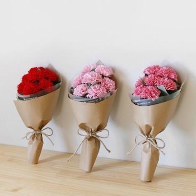 [최저가] 비누꽃 카네이션 7P 네츄럴 꽃다발