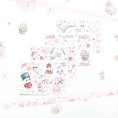 마넷 컷팅스티커 sampler - 봄토끼