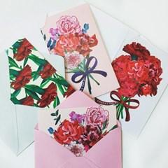 PP POSTCARD SET(봉투포함) -a buch of flowers set 4종택1