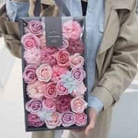 카네이션 비누꽃 용돈박스 - 딥그레이 프리미엄  상자
