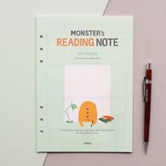 몬스터 6공 리필(A5)-독서기록장