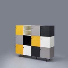 [채우리] 다담 큐브 스틸 도어형 다용도 공간박스