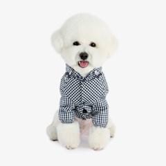강아지우비 바람막이 - 네이비