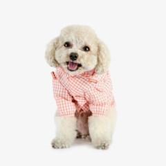 강아지우비 바람막이 - 핑크